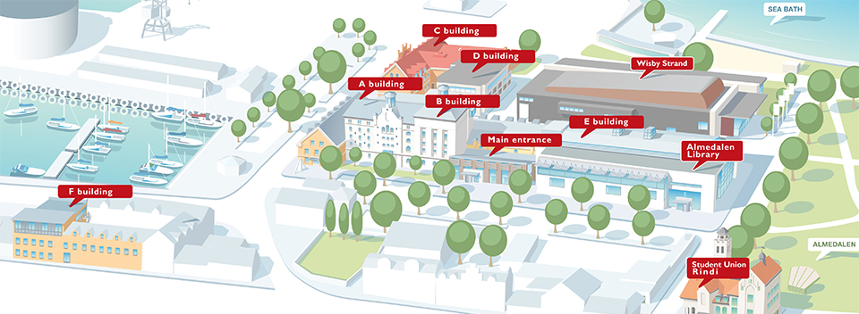 Map over Campus Gotland (picture)